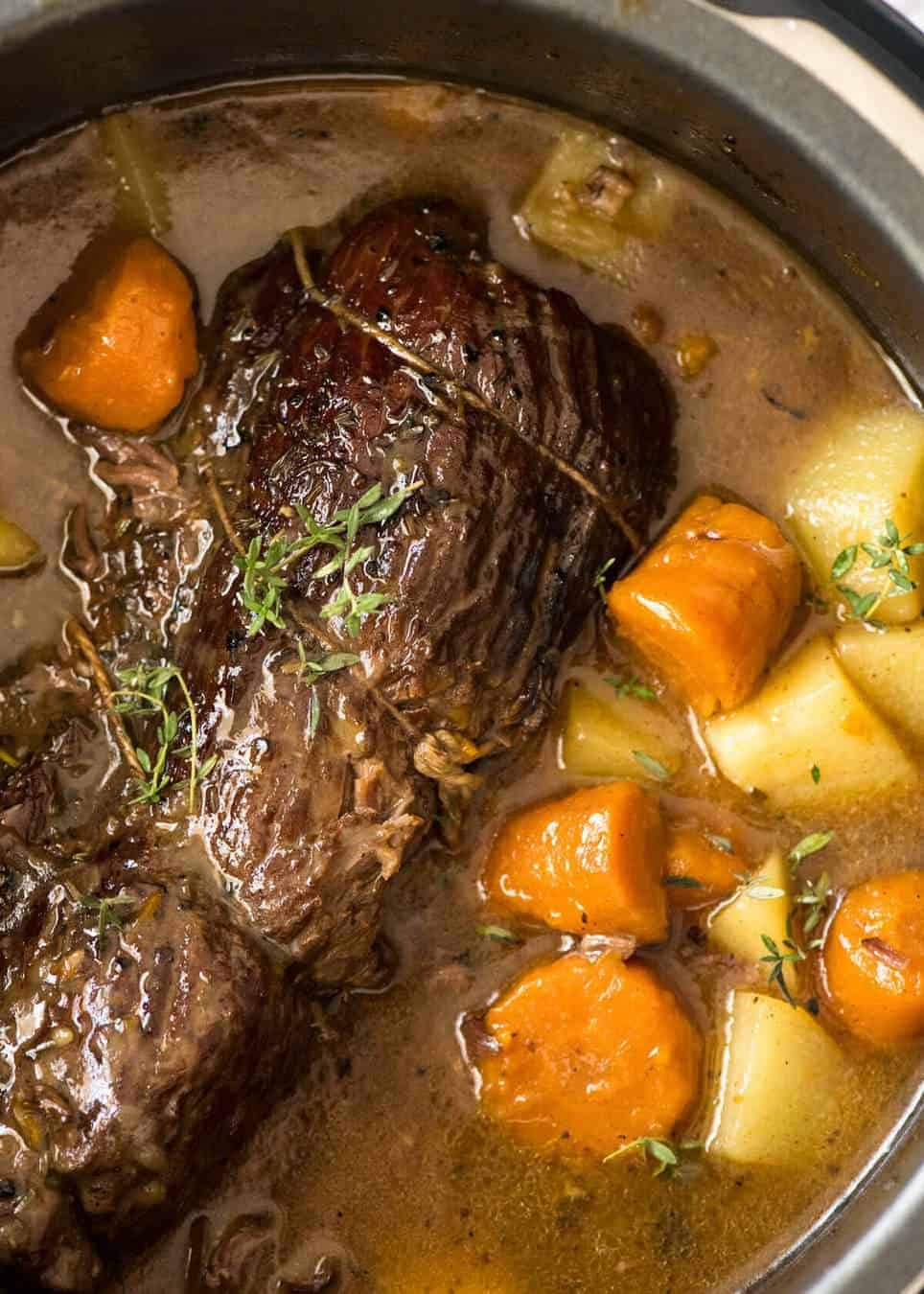Slow Cooker Beef Pot Roast: Slow Cooker Pork Pot Roast Recipe