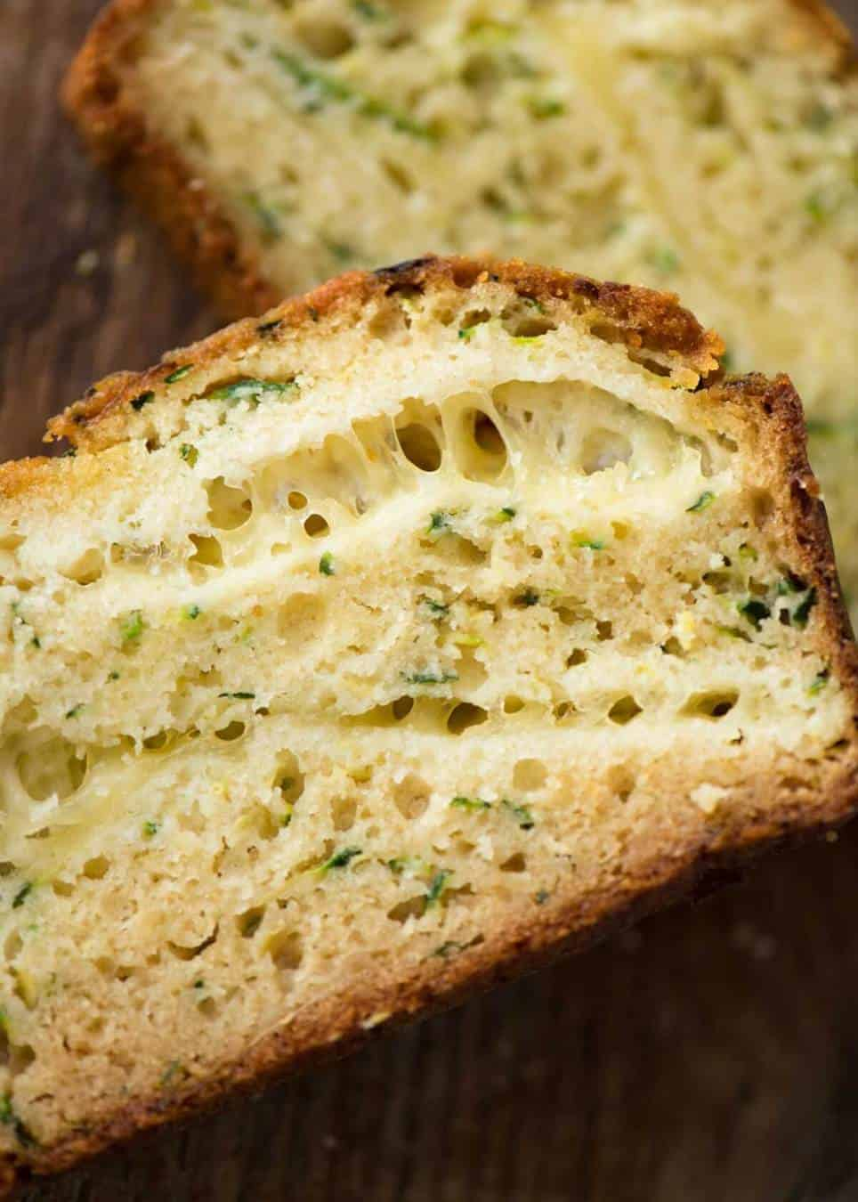 A Cheesy Zucchini Bread that's quick to make (no yeast) and is so moist, you'll scoff it down even without slathering it with butter! recipetineats.com