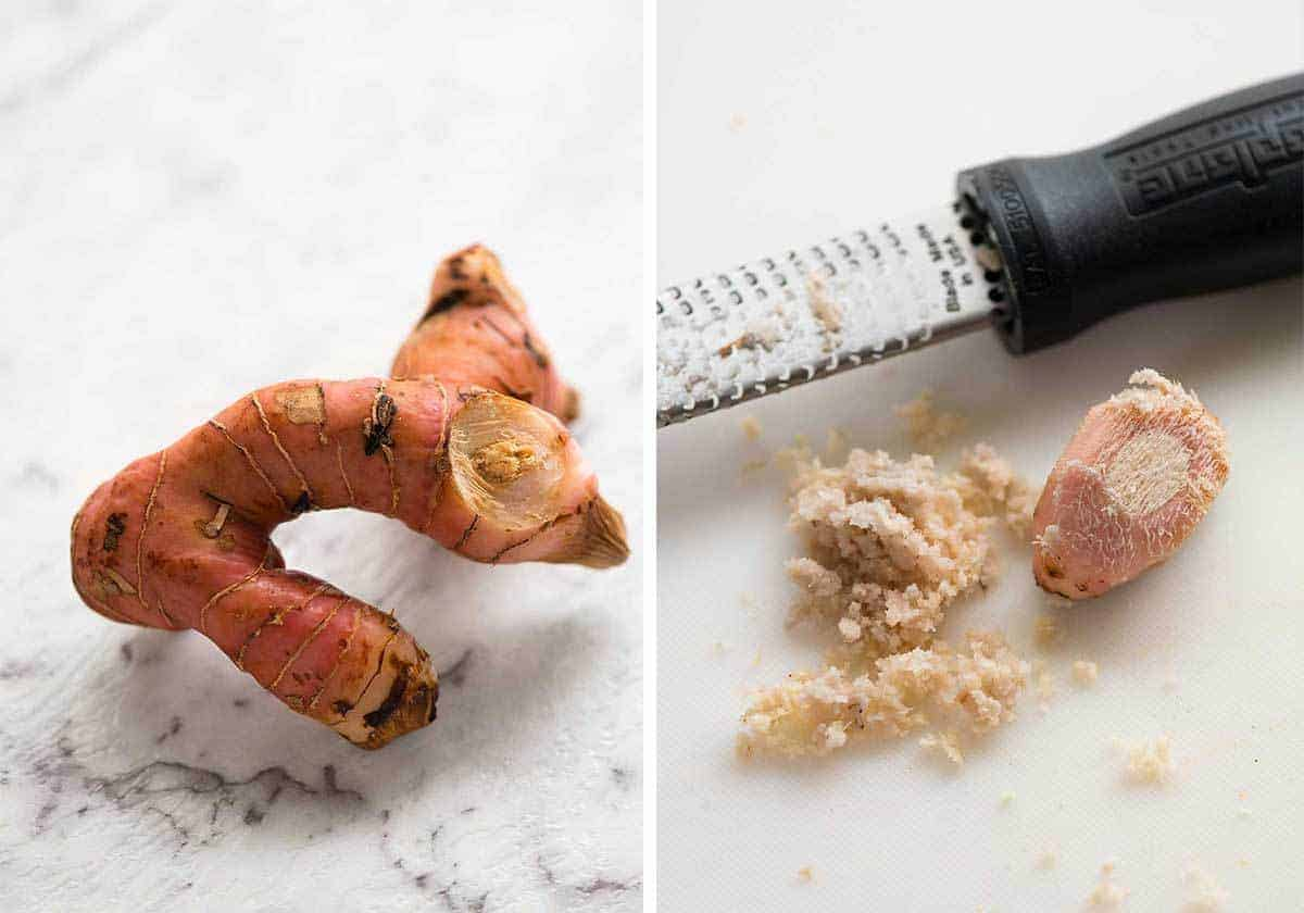 A key ingredient in Thai Red Curry Paste - galangal.