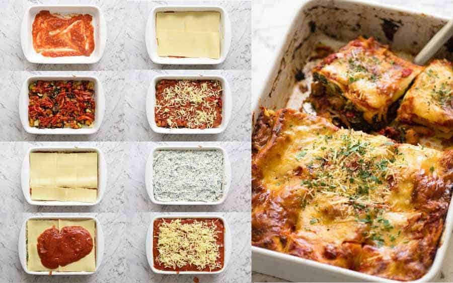 Preparation instructions for Vegetarian Lasagna