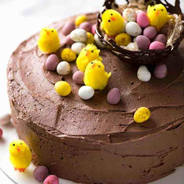 Easy Chocolate Cake for Easter