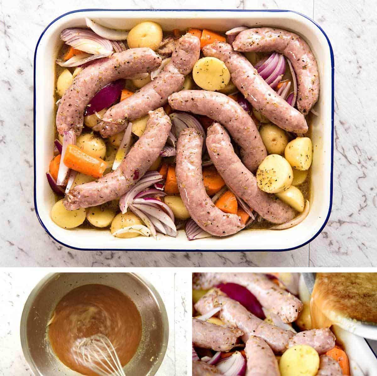 how to make white sausage gravy