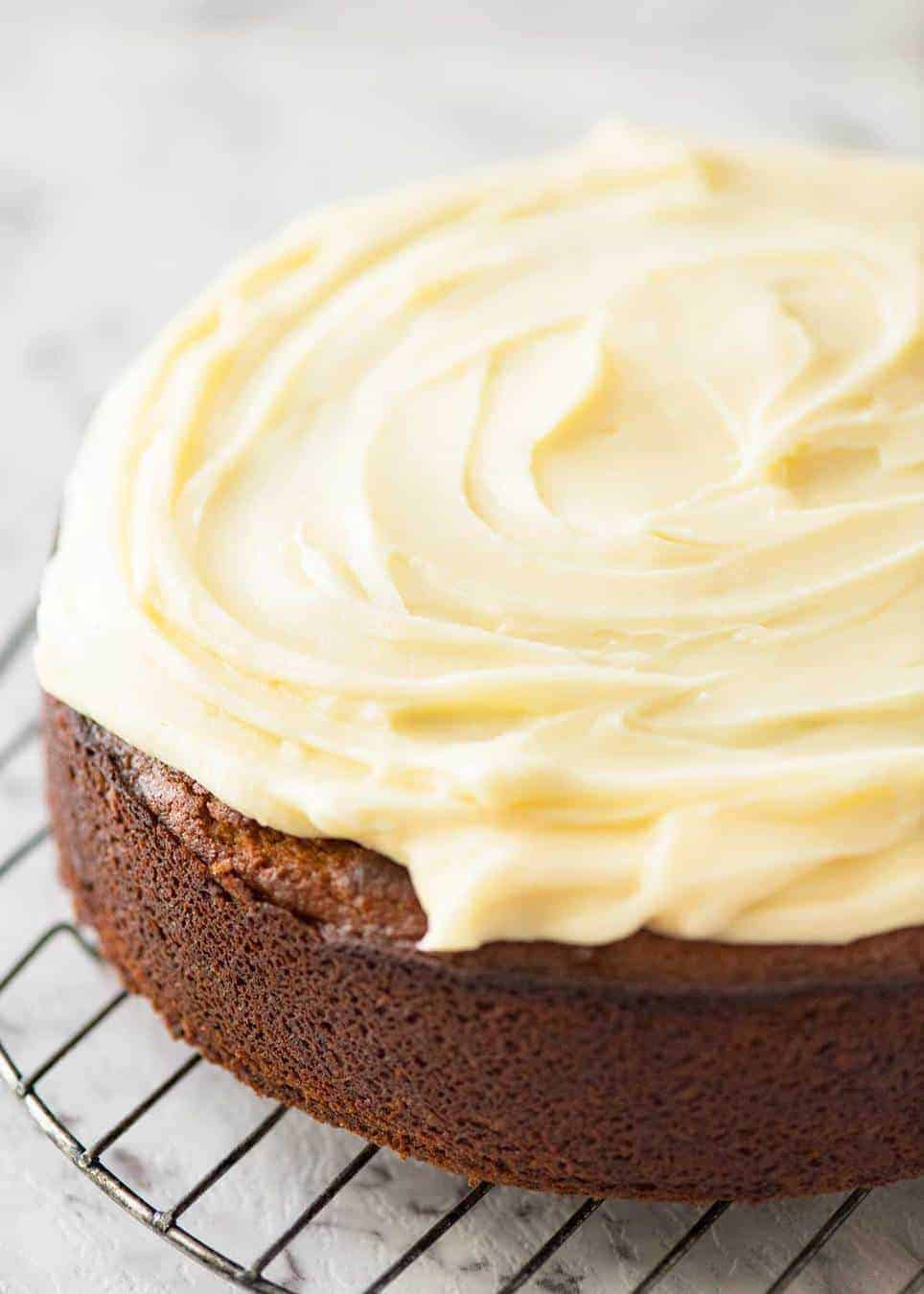 Super quick cream cheese frosting for Lemon Cake (no stand mixer required)