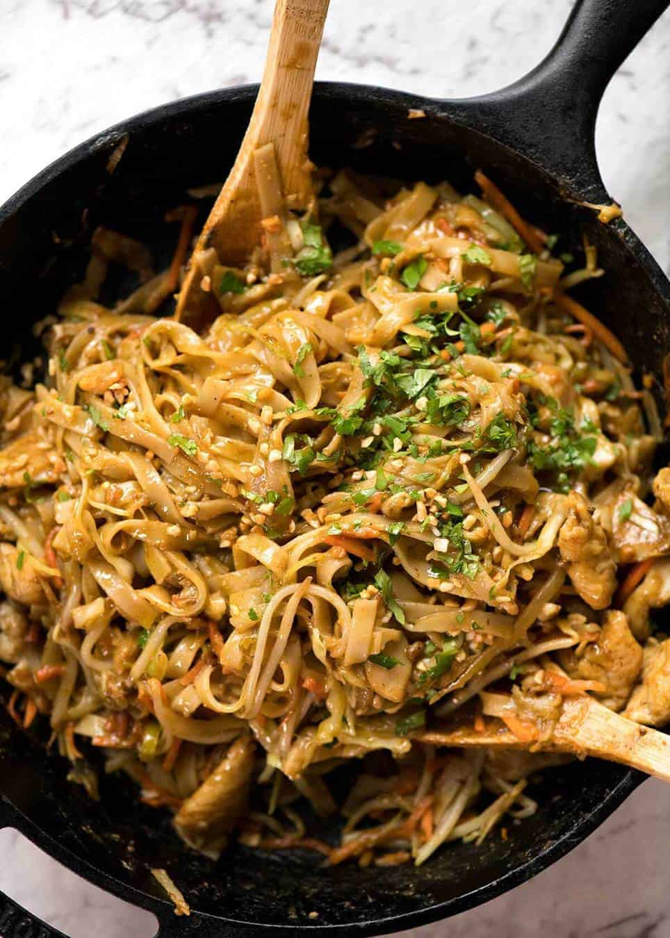 Stir Fried Noodles with Peanut Sauce