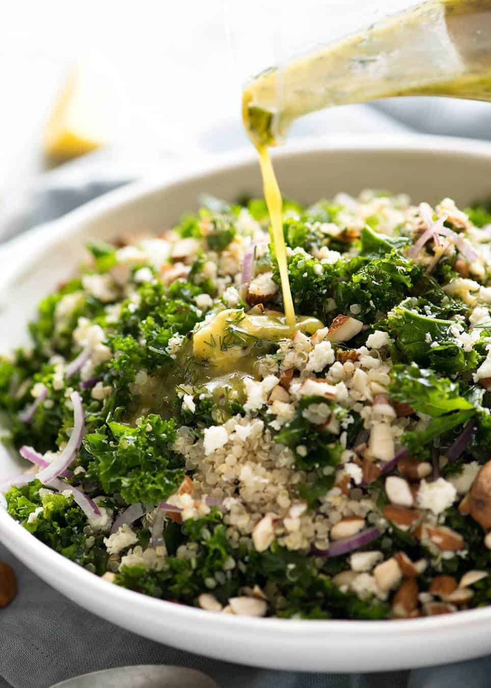 Kale And Quinoa Salad Recipetin Eats