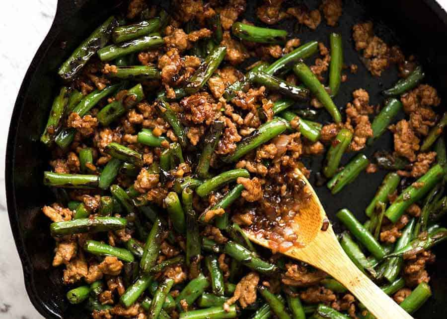 Pork Stir Fry with Green Beans | RecipeTin Eats