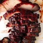 Overhead photo of slices of Char Siu Pork - Chinese BBQ Pork