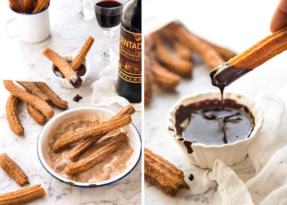 Churros, an ideal dessert to end a Mexican Fiesta
