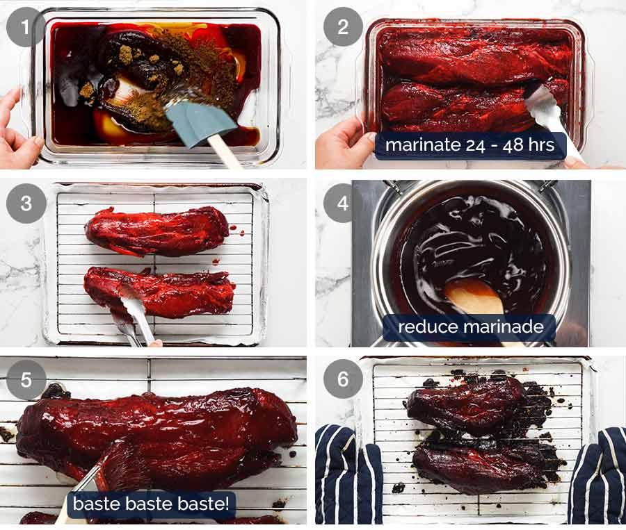 Como fazer Char Siu Pork - Carne de Porco Churrasco Chinesa