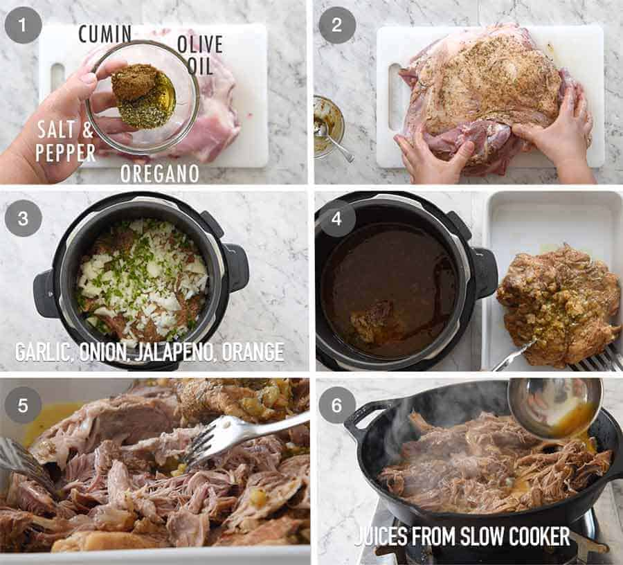 Preparation steps for How to Make Pork Carnitas