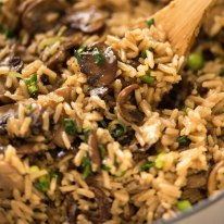 Close up of Mushroom Rice