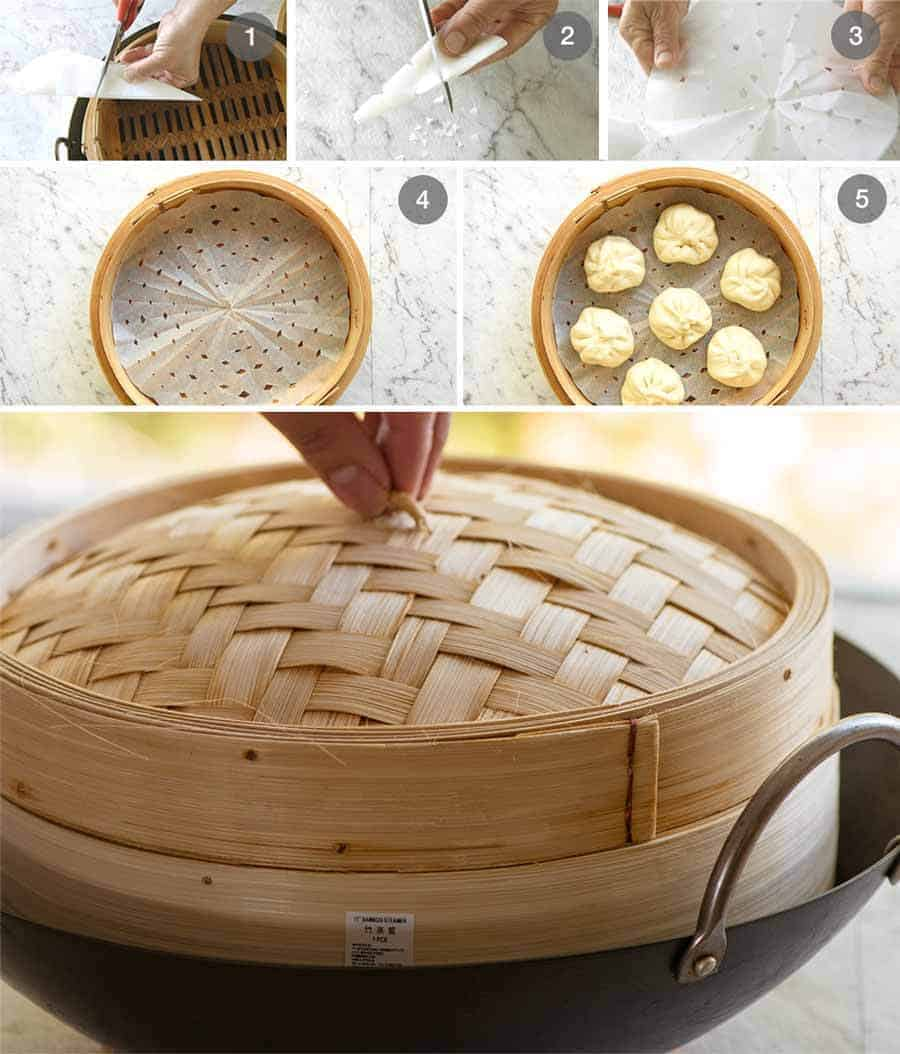 Preparation steps for how to steam Chinese Pork Buns