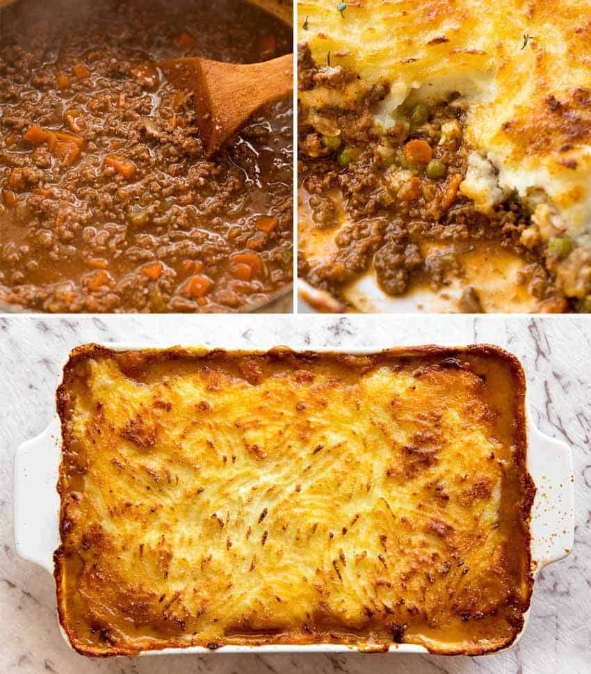 Preparation steps for Shepherd's Pie