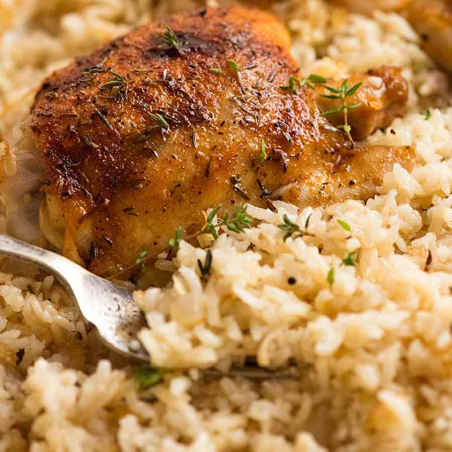 Oven Baked Chicken And Rice Recipetin Eats