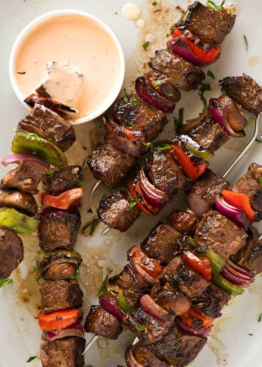 How to Marinate Shish Kebab in Vinegar and Sesame Dressing 68