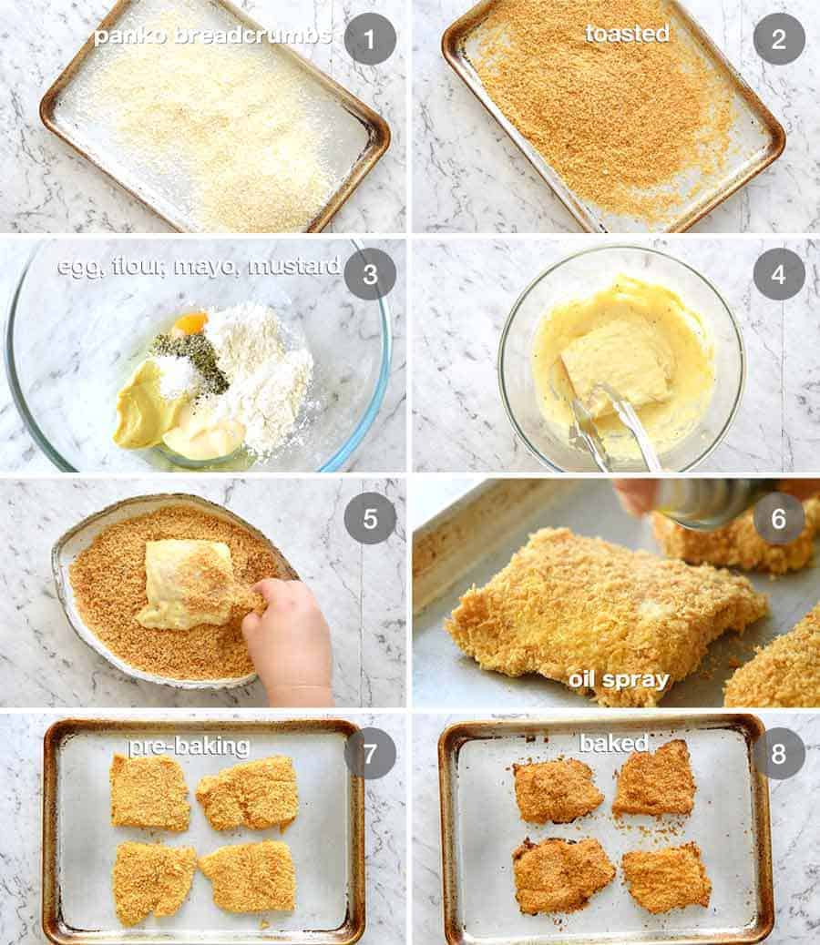 Preparation steps for Homemade Filet-O-Fish (BAKED!)