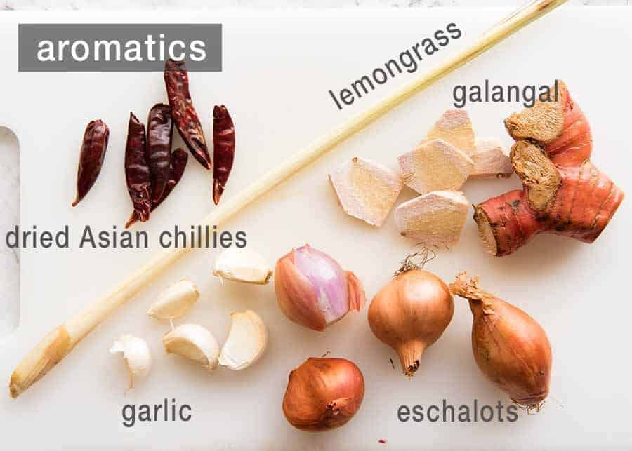 Aromatics for Massaman Curry Paste