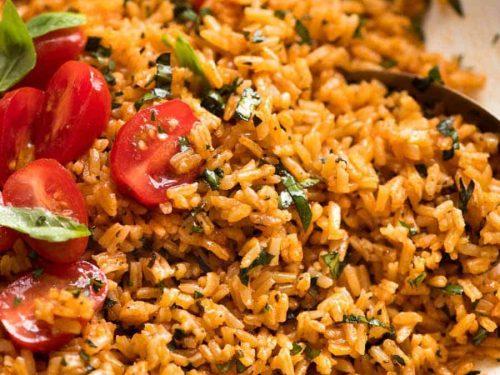 Tomato Basil Rice