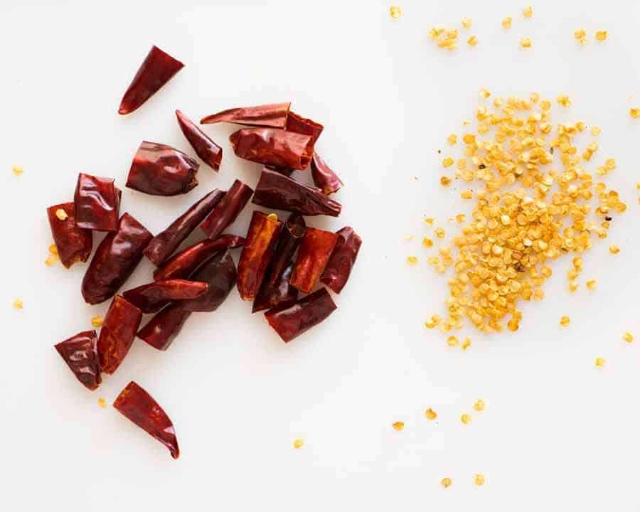 Dried Chillies for Kung Pao Chicken