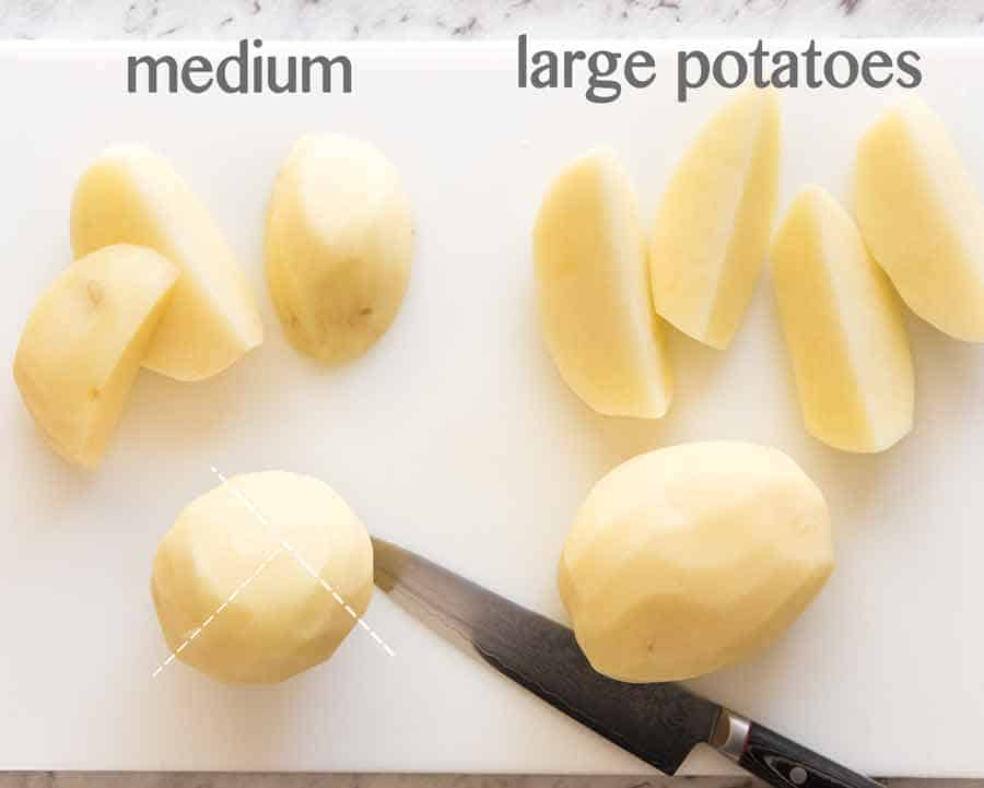 How to cut Greek Lemon Potatoes
