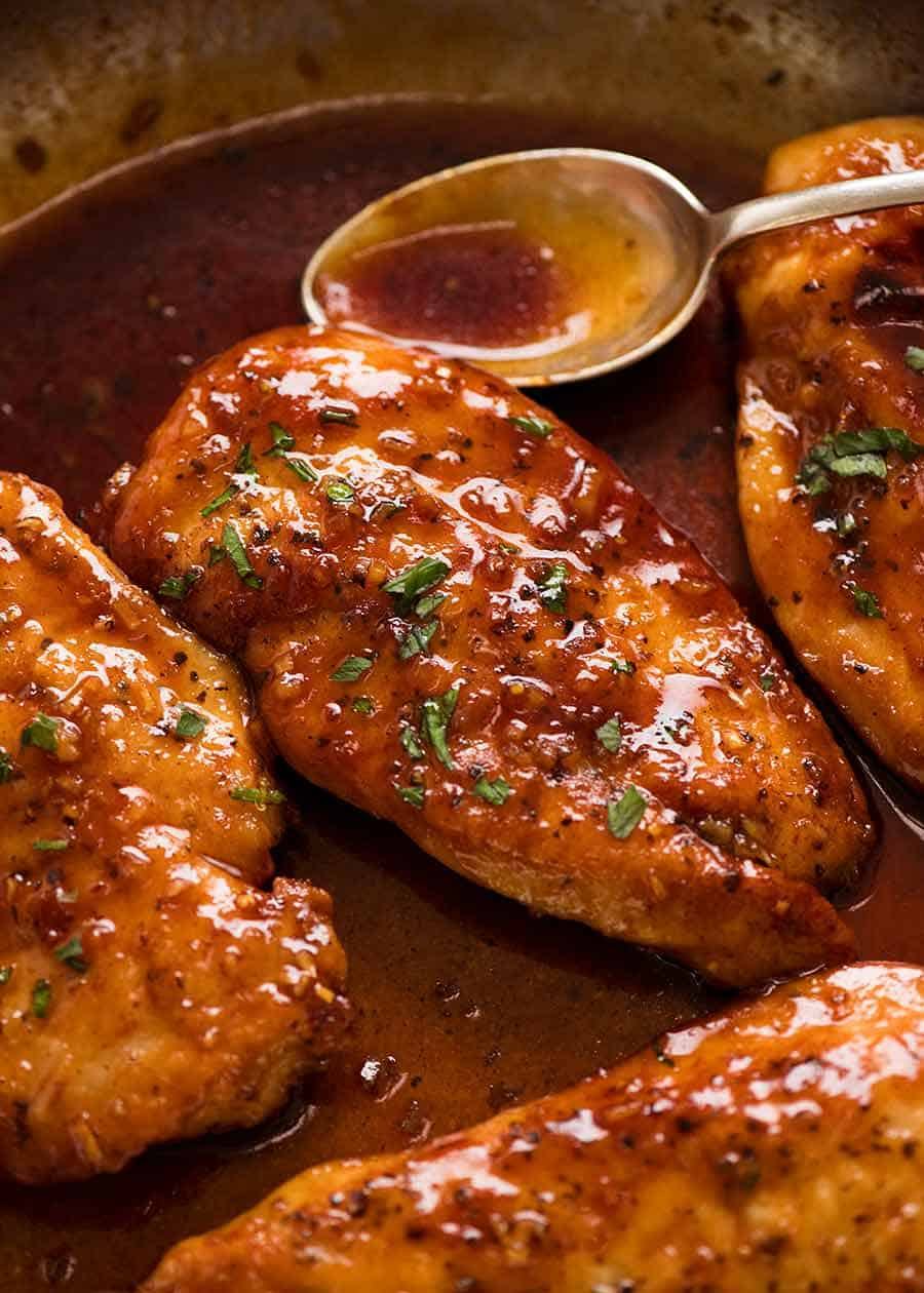 Honey Garlic Chicken Breast Recipetin Eats