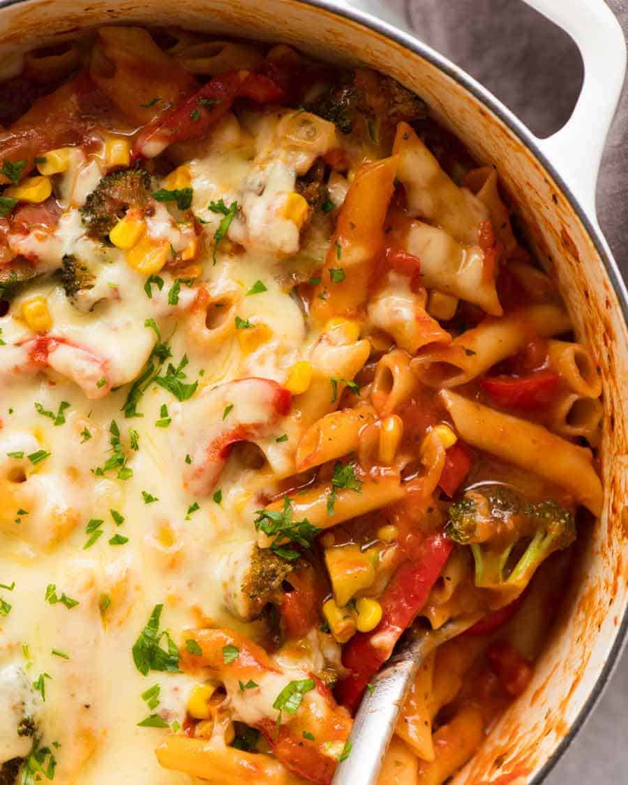 Vegetable Pasta One Pot Recipetin Eats