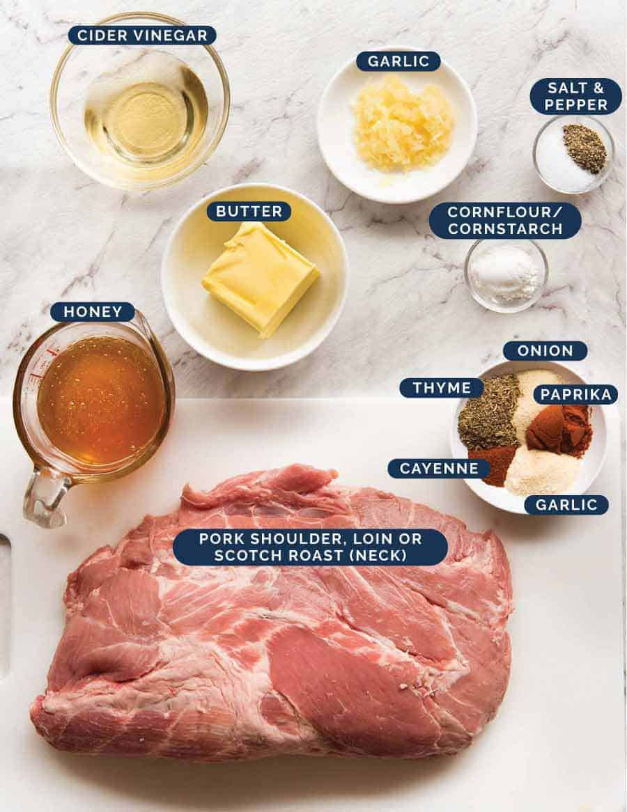 Ingredients in Slow Cooker Pork Loin Roast