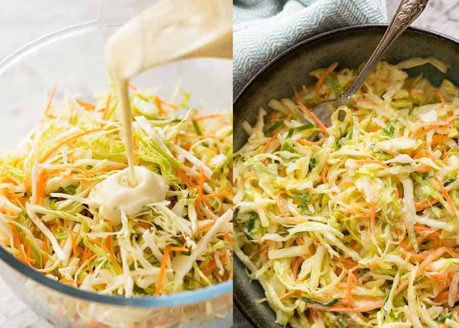 Coleslaw with Creamy Yogurt Lemon Dressing