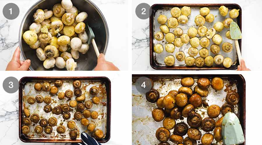 How to make Garlic Butter Roasted Mushrooms
