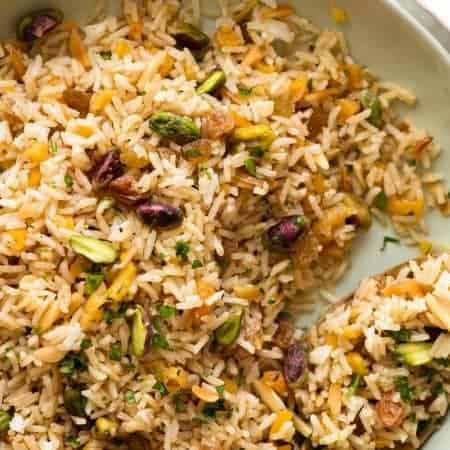 Rice Pilaf with Nuts and Dried Fruit