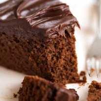 Close up of Easy Chocolate Fudge Cake