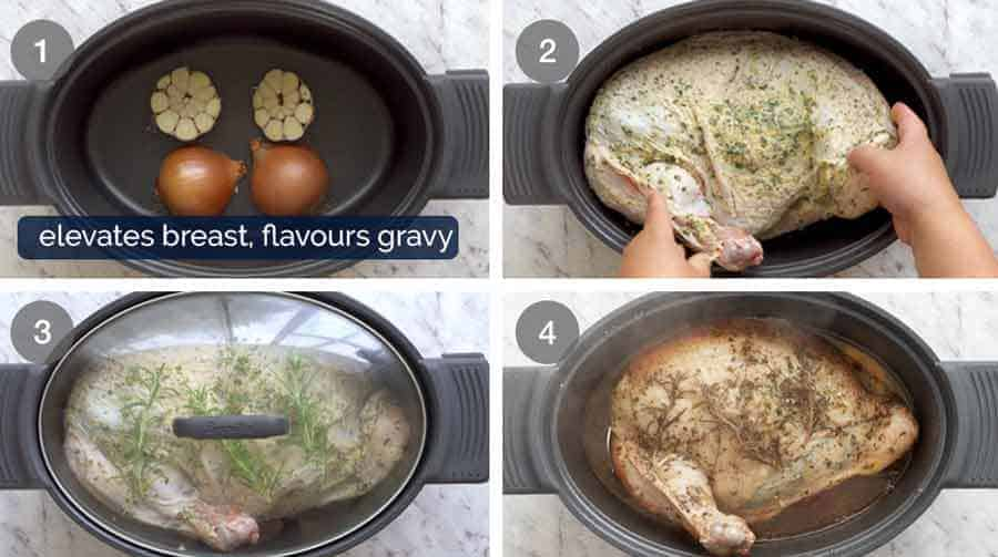 How to make Garlic Herb Slow Cooker Turkey Breast