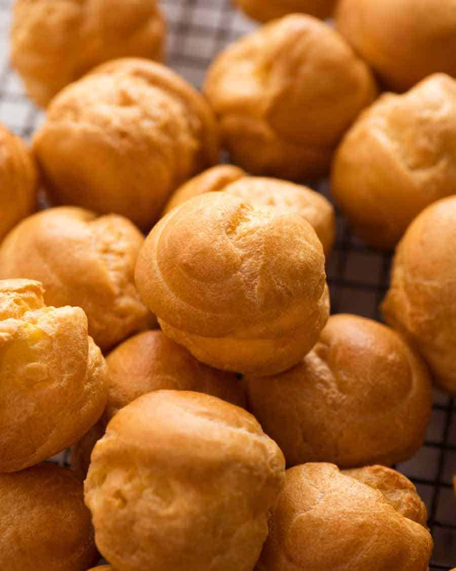 Pile of Cooked Chop Pastry Balls