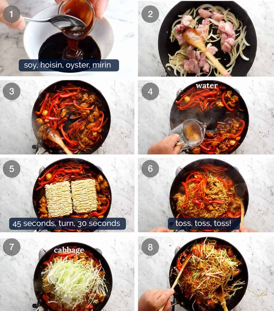 How to make Chicken Vegetable Ramen Noodles