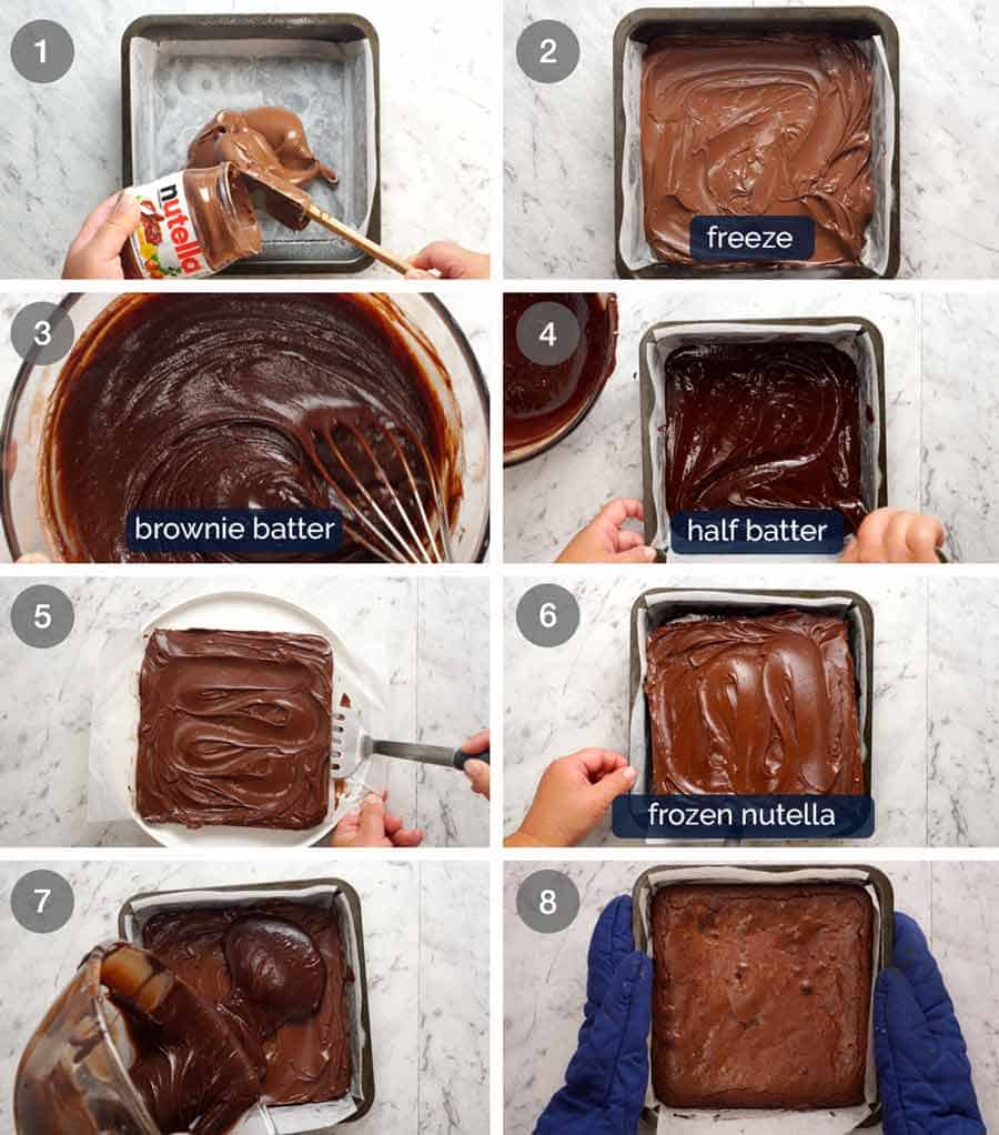 How to make Outrageous Nutella Brownies