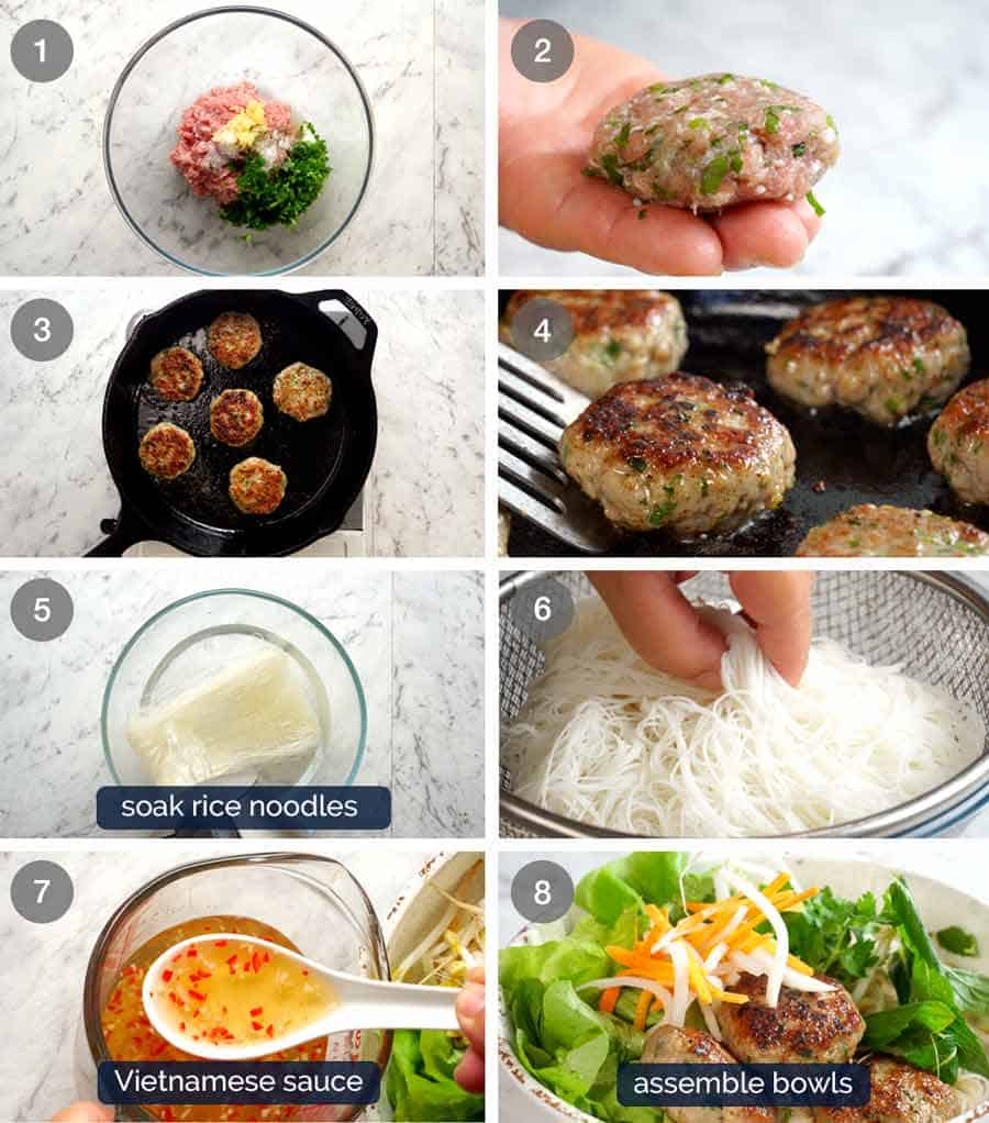 How to make Bun Cha - Vietnamese Meatballs