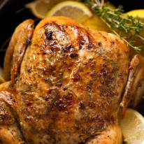 Slow Cooker Whole Roast Chicken - Lemon Garlic