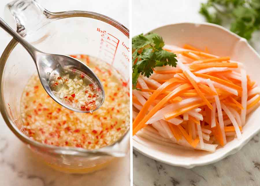 Nuoc Cham and Pickled Vegetables