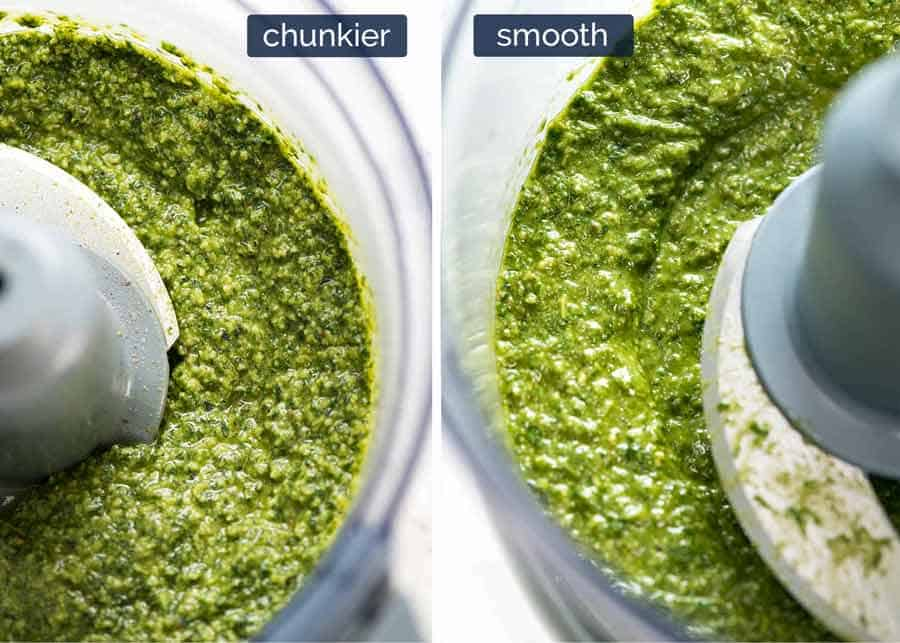 Chunkier vs smooth pesto