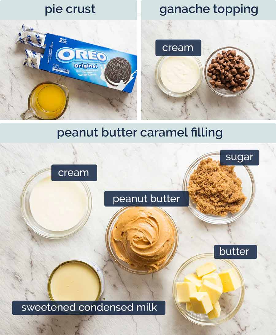 Ingredients in Peanut Butter Caramel Pie