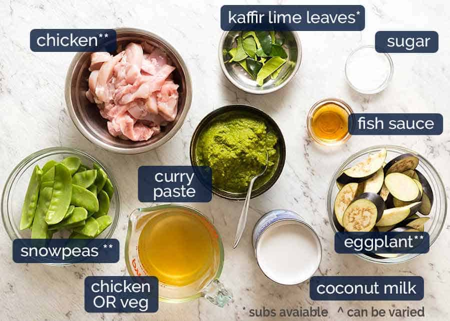 Ingredients in Thai Green Curry