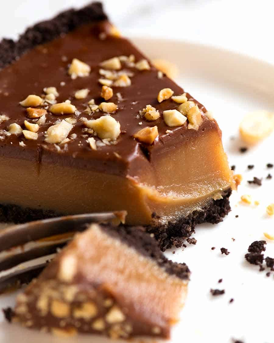 Close up of Peanut Butter Pie slice