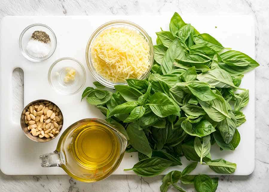 What goes in pesto