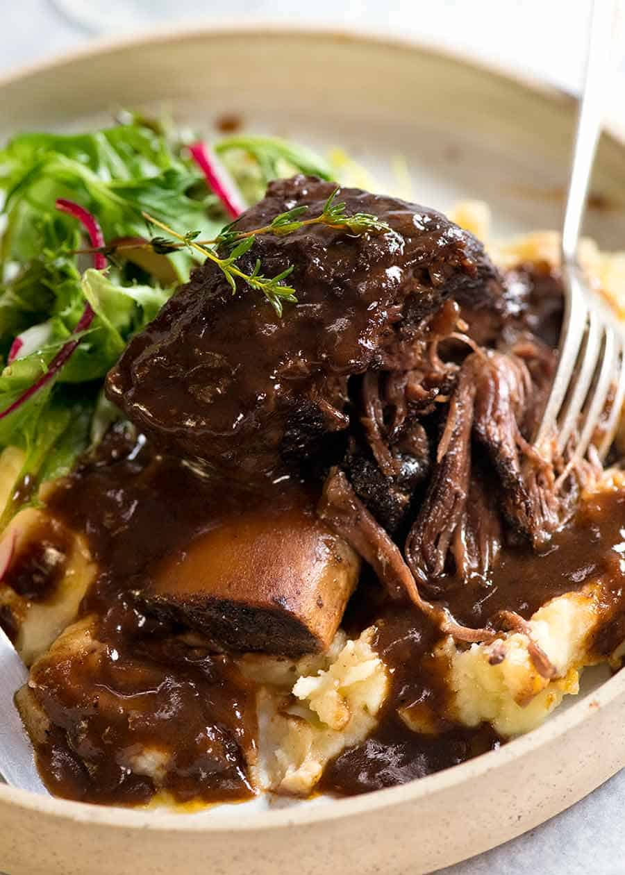 Braised Beef Short Ribs In Red Wine Sauce Recipetin Eats