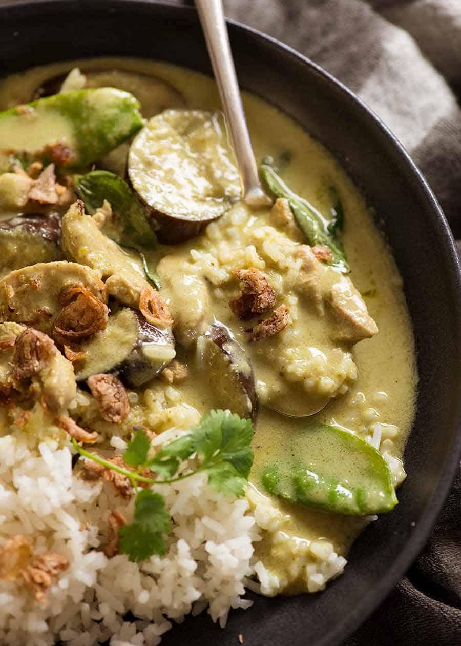 Make thai green curry sauce