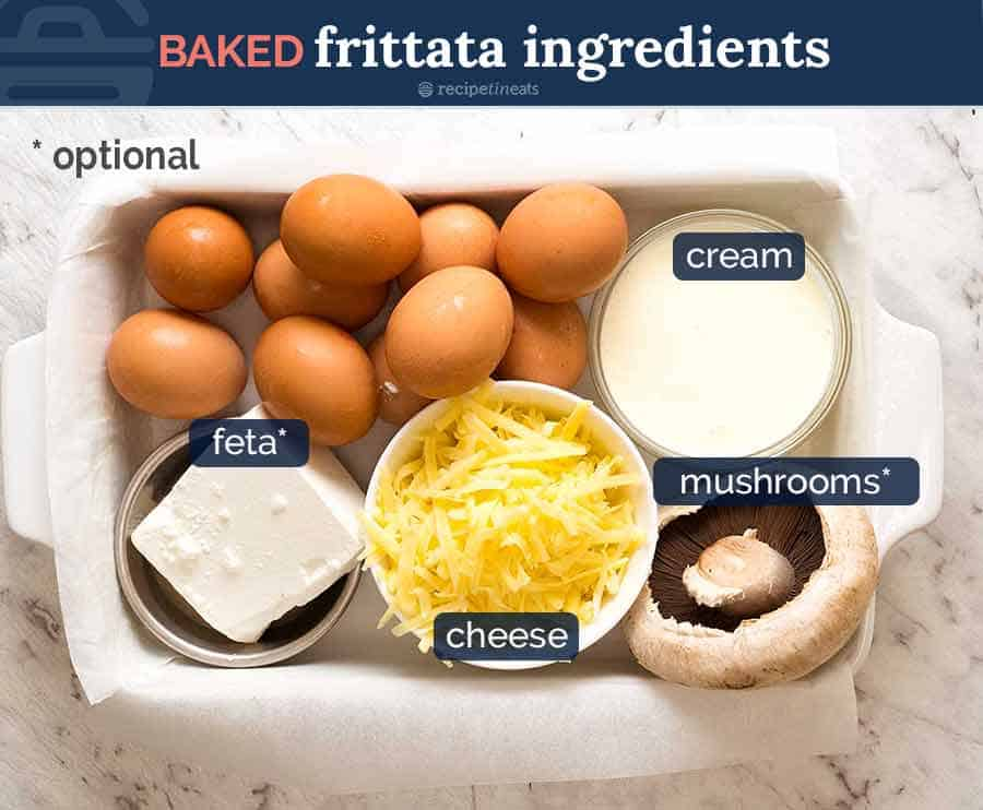 Ingredients in Baked Frittata