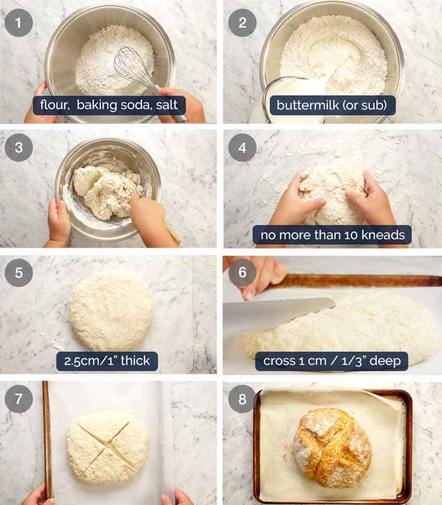 How to make Irish Soda Bread (no yeast bread)