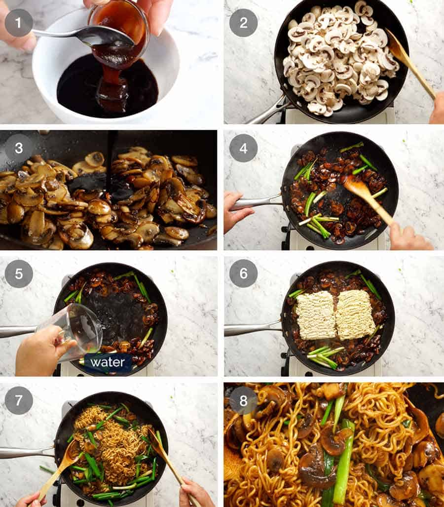 How to make Asian Mushroom Ramen Noodles
