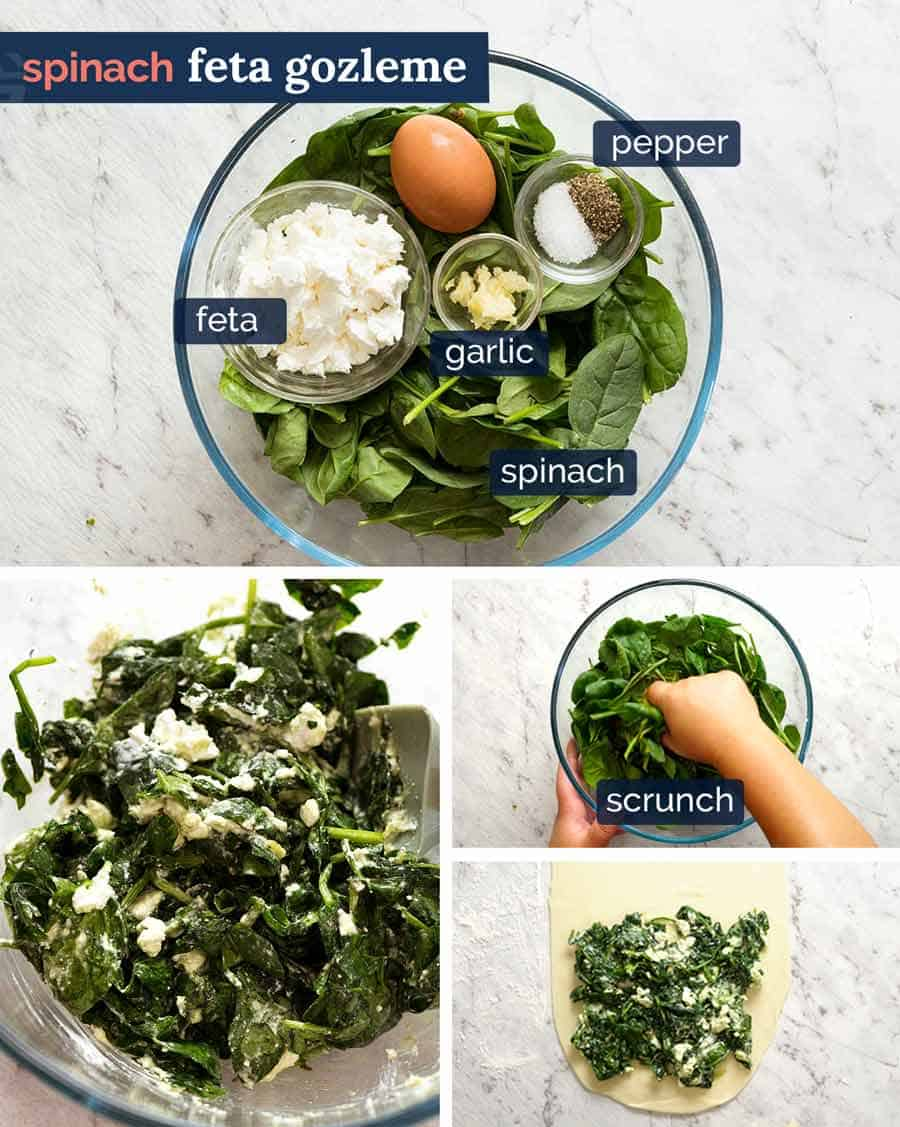 How to make Spinach Feta Gozleme