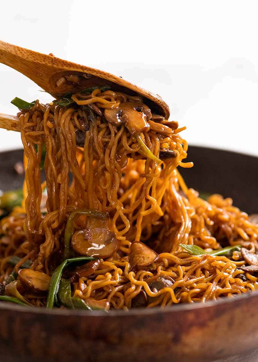 asian mushroom ramen noodles  the cookbook network
